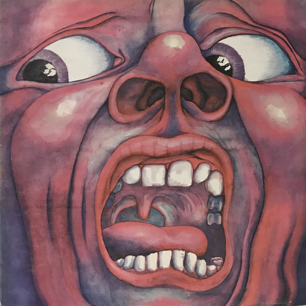 Coperta disc vinyl King Crimson In The court of Crimson King